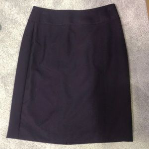 Dark purple pencil skirt